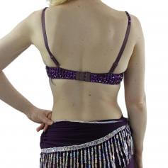 Fashion Six Hanging Diamond Belly Dance Bra