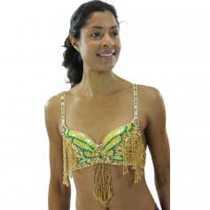 Fashion Butterfly Bead Chain Belly Dance Bra