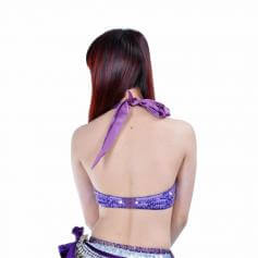 Fashion Diamond Butterfly Design Belly Dance Bra