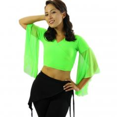 Chiffon Belly Dance Top with Transparent Sleeves