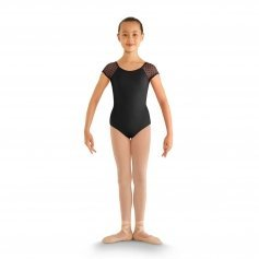 Bloch Child Heart Mesh Cap Sleeve Leotard