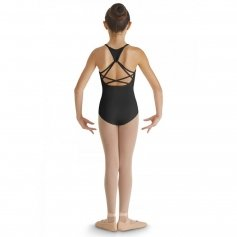 Bloch Child Heart Mesh Side Panel Strappy Back Camisole Leotard