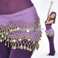 158 Coins Belly Dance Hip Scarf Wrap