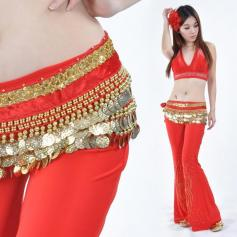 248 Gold Coins Belly Dance Waist Scarf