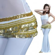 338 Gold Coins Belly Dance Hip Belt