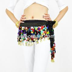 88 Coins Mixed-color Belly Dance Coins Hip Scarf [BELBS007]