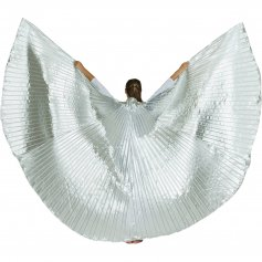 Solid Silver Worship Angel Wing