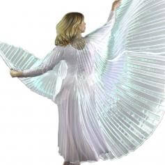 Iridescent White Worship Angel Wing