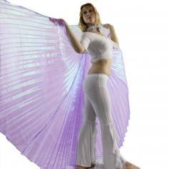 Iridescent Lavender Worship Angel Wing