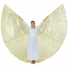 Transparent Gold Worship Angel Wing