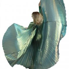 Solid Blue-Gold Worship Angel Wing