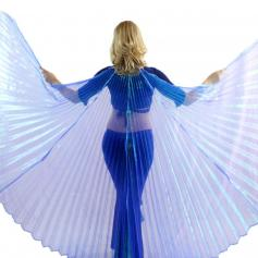Iridescent Royal Blue Worship Angel Wing