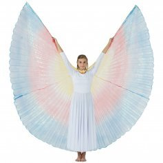 Yellow-Red-Blue Gradient Neon Worship Angel Wing
