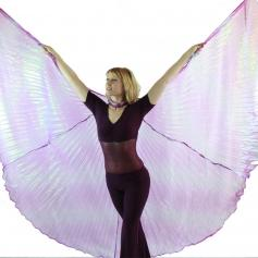 Iridescent Neon Purple Worship Angel Wing