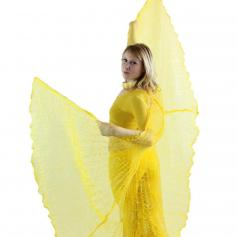 Flower Pattern Yellow Worship Angel Wing