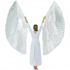 Silver Hand-held Worship Angel Wing