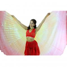 Gold-Orange-Red Gradient Color Worship Angel Wing
