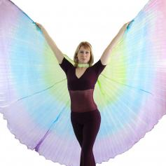 Green-Blue-Purple Gradient Color Worship Angel Wing [BW039]