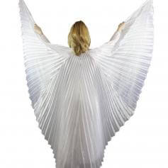 Solid White Worship Angel Wing