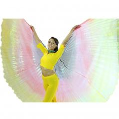 Black-Red-Yellow Gradient Color Worship Angel Wing
