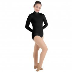 Nylon Long sleeve turtleneck leotard