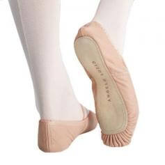 Body Wrappers Child Tiler Full Sole Leather Pleated Ballet Slipper
