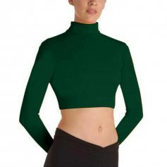 Body Wrappers BWProWear Long Sleeve Turtleneck Midriff Pullover