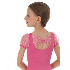 Body Wrappers Child Hearts Collection Leotard wih Tulle Short Sleeve