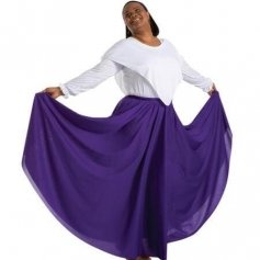 Body Wrappers Deep Purple Praise Dance Circle skirt