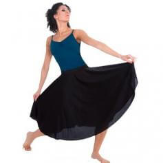 Character Dance below-the-knee circle skirt
