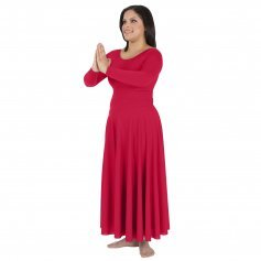 Body Wrappers Long Sleeve Dance Dress