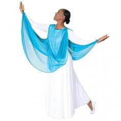 Body Wrappers Asymmetrical Chiffon Drape