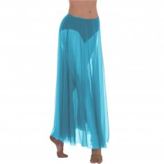Body Wrappers Long Full Chiffon Skirt