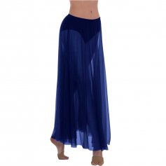 Body Wrappers Ministry Dance Long Full Chiffon Skirt