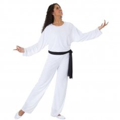 Body Wrappers Worship Dance Unisex Straight Leg Pants