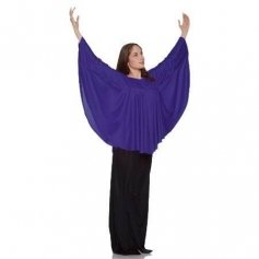 Body Wrappers Deep Purple Angel Wing Drapey Pullover