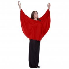 Body Wrappers Liturgical Dance Angel Wing Drapey Pullover