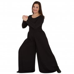 Body Wrappers Long Sleeve Crew Neck Jumpsuit