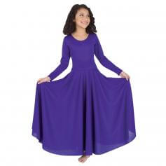 Bodywrappers Praise Full Length Long Sleeve Dance Dress [BWP588]