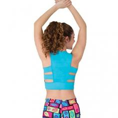 Body Wrappers Prowear Novelty Racerback Midriff Pullover