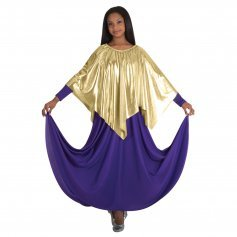 Body Wrappers Ministry Dance Metallic Handkerchief Hem Drape