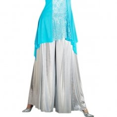 Body Wrappers Metallic Palazzo Pant