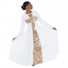 Body Wrappers Praise Cross Long Dress