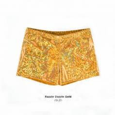 Body Wrappers Child Print Hot Shorts Razzle Dazzle Gold