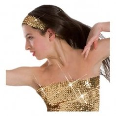 Body Wrappers Sequin Elastic Headband