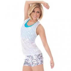 Body Wrappers Racerback Pullover Sequins [BWP7581]