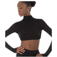 Body Wrappers Convertible Mock Neck Long Sleeve Shrug