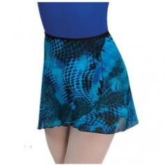 Body Wrappers Adult Short Tapered Print Classic Wrap Skirt