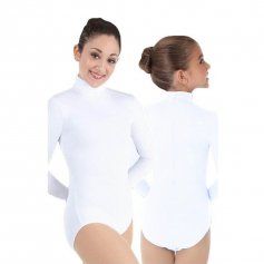 Body Wrappers Child ProWEAR Zip Back Mock Turtleneck Leotard