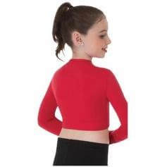Body Wrappers Child Long Sleeve V-Neck Midriff Pullover